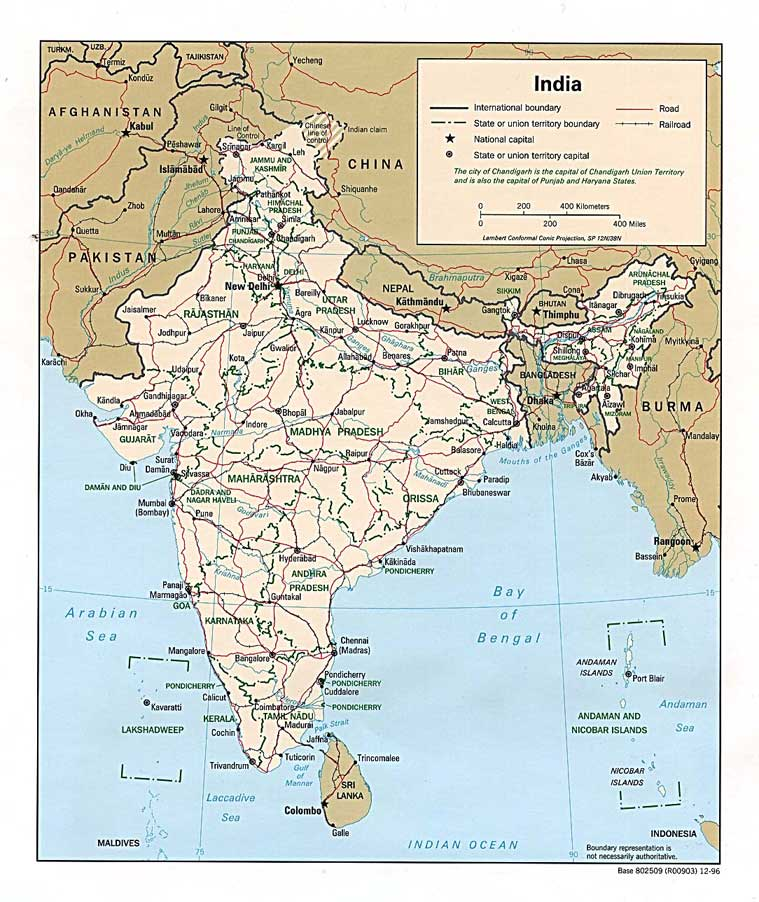 Maps India Asia Mega Net